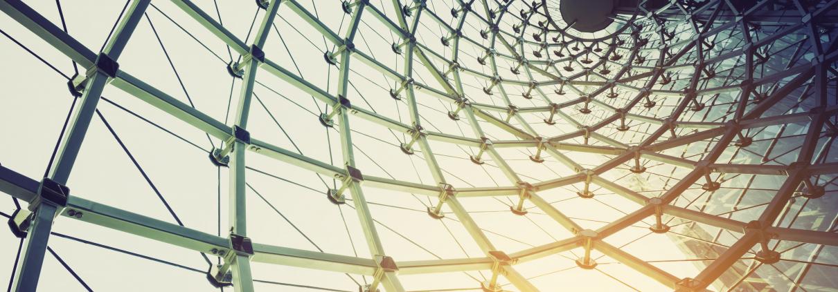 A glass framework